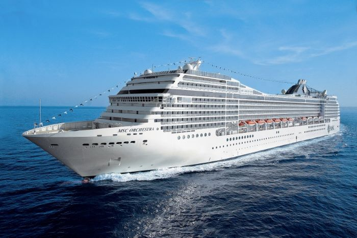 MSC Orchestra, which was to have concluded the curren 2020/2021 cruise season, which has now been cancelled by MSC Cruises - see below for details. It is not yet clear whether MSC Orchestra will return immediately to Europe - the ship has been at anchor outside Durban since March 2020., featured in Africa PORTS & SHIPS maritime news
