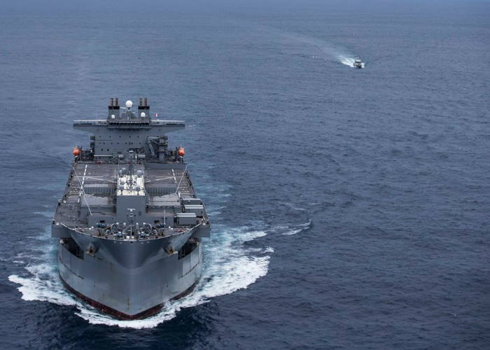 USS Hershel Woody Williams exercising at sea with the Senegalese Navy in September 2020. Pictrure: US Navy, featured in Africa PORTS & SHIPS maritime news