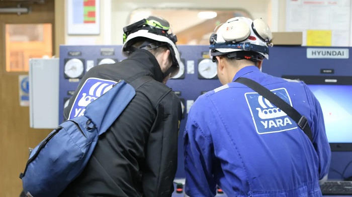 Yara Marine Technology at work, featured in Africa PORTS & SHIPS maritime news