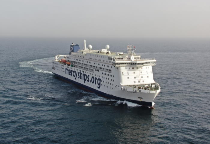 Global Mercy during her recent sea trials. Picture courtesy Stena RoRo, featured in Africa PORTS & SHIPS maritime news