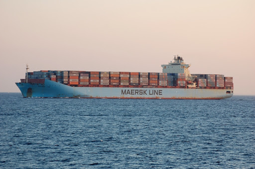 Maersk ship, picture courtesy: Shipspotting, as featured in Africa PORTS & SHIPS maritme news