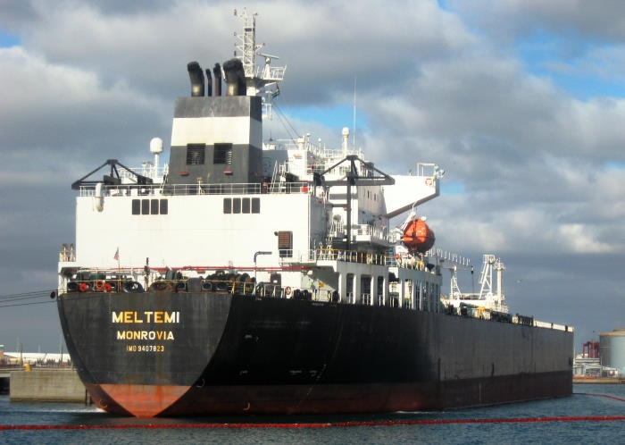 The tanker Meltemi which has arrived in Cape Town to discharge fuel products. Picture by 'Dockrat' and featured in Africa PORTS & SHIPS maritime news