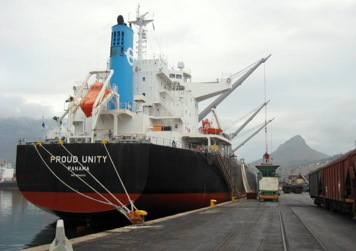 Proud Unity on her berth in the Port of Cape Town. Picture by 'Dockrat', featured in Africa PORTS & SHIPS maritime news