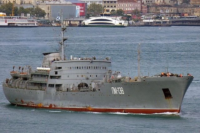 Amur class repair ship similar to the vessel that recently visited Port Sudan, featured in Africa PORTS & SHIPS maritime news