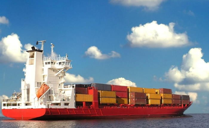 Container ship at sea, with rport in Africa PORTS & SHIPS maritime news