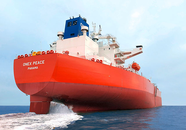 Built by Hyundai Samho Heavy Industries, the Aframax crude oil tanker ONEX Peace will be able to benefit from port fee discounts in Canadian seaports thanks to its SILENT-E class notation. Picture: DNV and featured in Africa PORTS & SHIPS maritime news