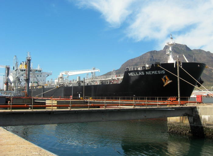 Hellas Nemesis arrived from India with cargo for Cape Town and Durban. Picture by 'Dockrat'