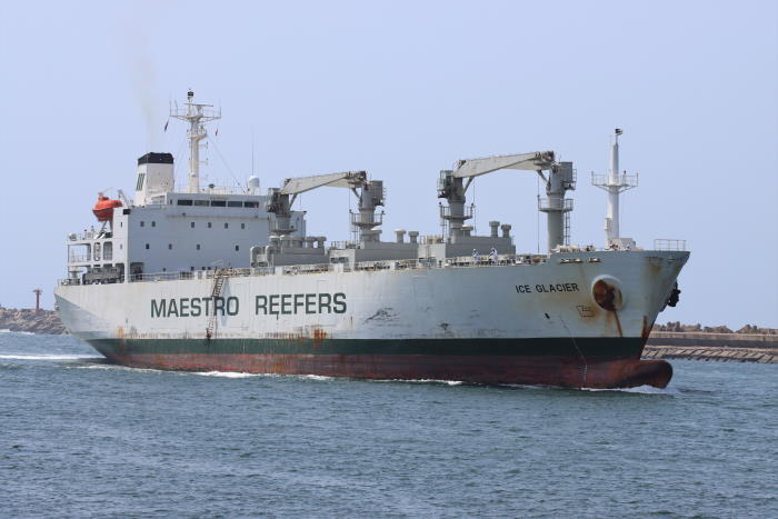 The reefer ship ICE GLACIER arriving in Durban on September to begin loading citrus fruit for Russia. The vessel was to continue loading at Port Elizabeth and finally at Cape Town, bringing to a close the South Africa 2021 reefer season for citrus. Picture by Keith Betts