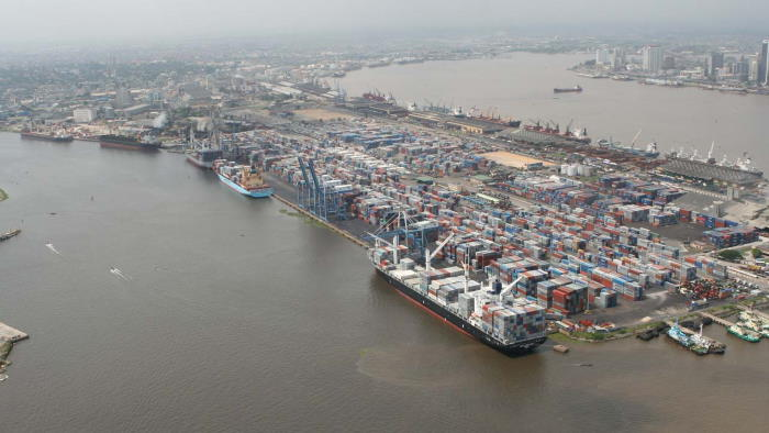Lagos - the Port of Apapa and the city, Nigeria's biggest and busiest