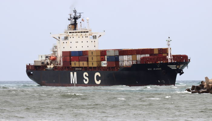MSC Jeanne. Picture by Keith Betts