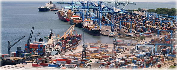 Mombasa's container terminals