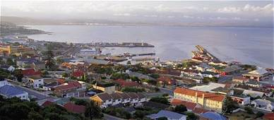 The Port of Mossel Bay and part of the town