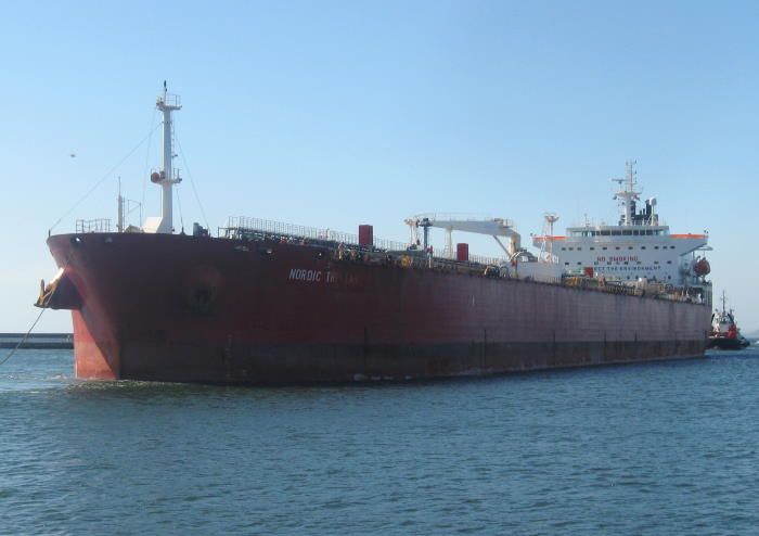 This was Nordic Tristan arriving in port at Cape Town on Saturday, 9 October 2021. Piture is by 'Dockrat'