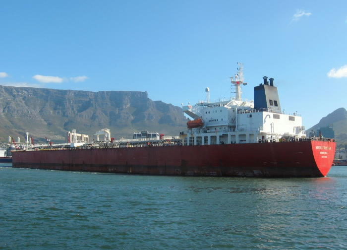 The LR1 products tanker Nordic Tristan called at Cape Town to discharge a cargo of fuel products.. Picture by 'Dockrat'