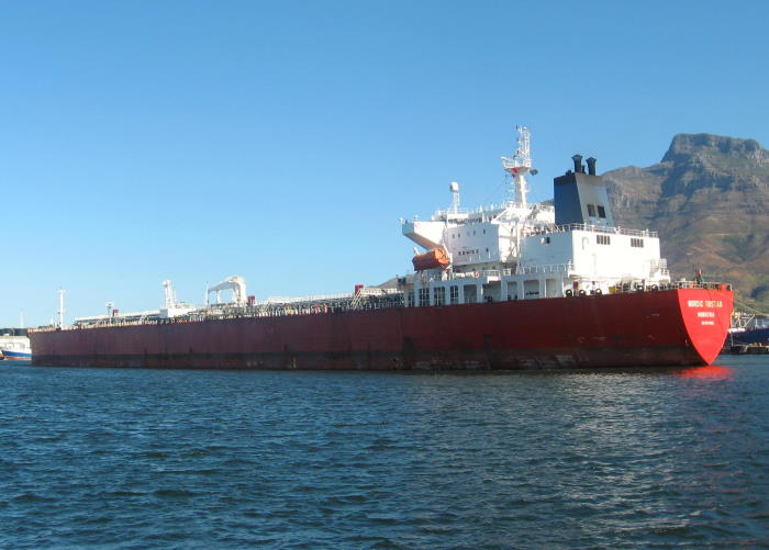 Nordic Tristan in the Duncan Dock at Cape Town. Picture is by 'Dockrat
