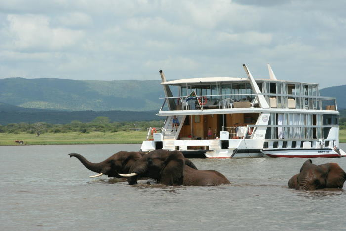 Superb wildlife viewing is just one of the attractions on Jozini, apart from fishing and admiring the scenery
