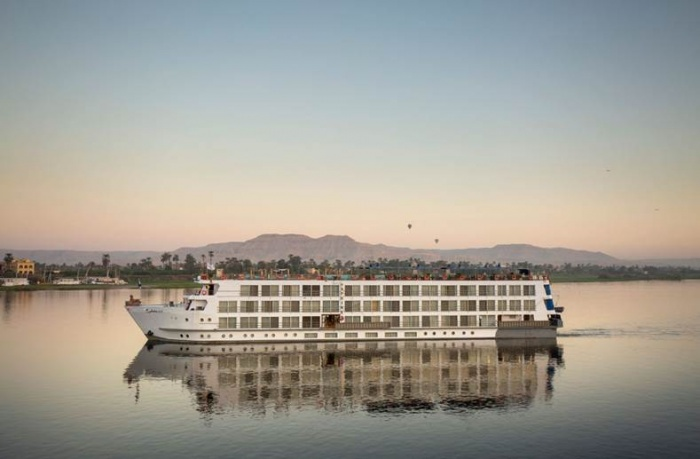 S.S. Sphinx, Uniworld's latest river cruise vessel now operating on the Rive Nile in Egypt