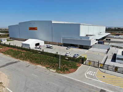 DHL's new warehouse in the CDC