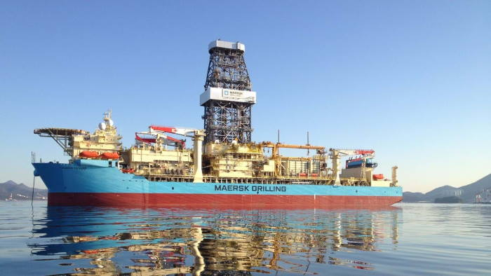 Maersk Voyager, currently drilling the world's deepest well off Angola