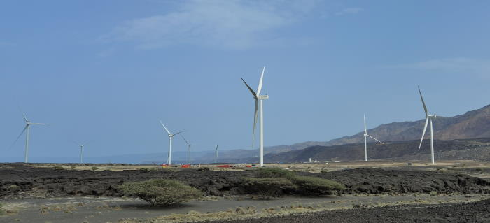 The new wind farm as it will appear on completion. Picture: Mammoet